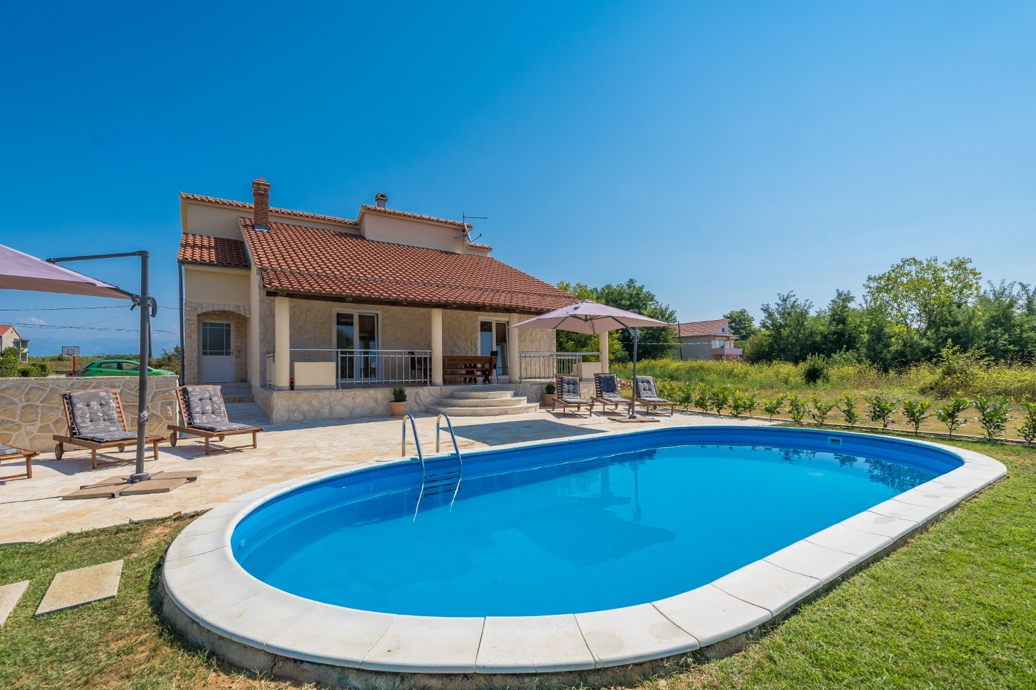 Holiday Homes, Privlaka, Nin and surroundings - Holiday houses, villas  Oasis Village Villa - with pool :
