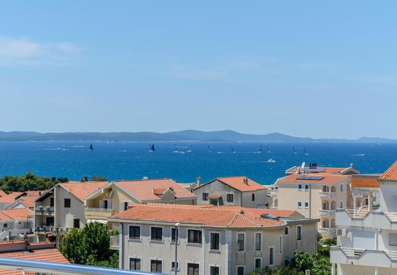 Mali princ - Zadar - Appartementen Kroatië - A3(2+2): uitzicht vanaf balkon