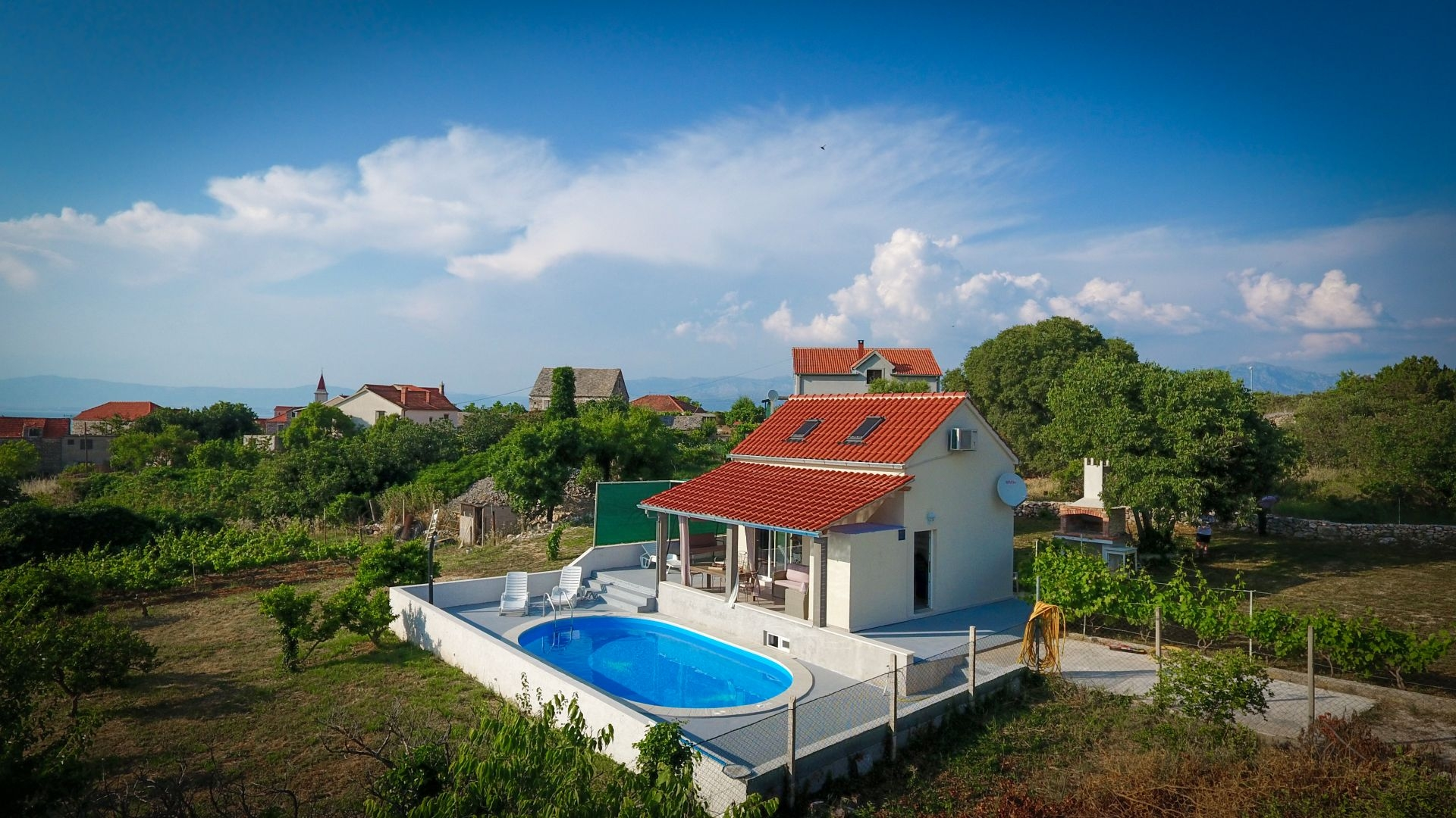 Holiday Homes, Mirca, Island of Brač - Holiday houses, villas  Baras garden