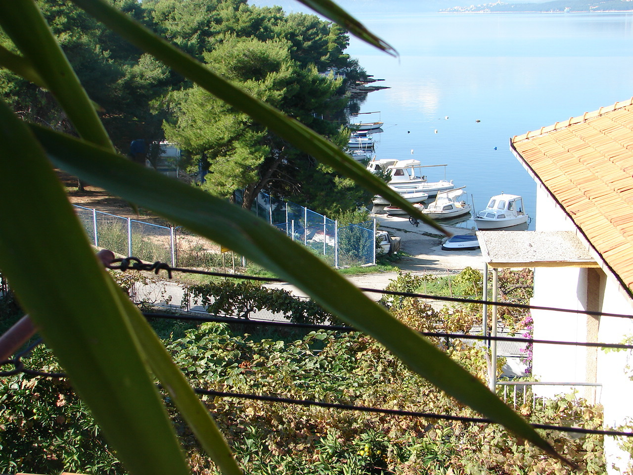 01812TROG - Trogir - Appartements Croatie - A1(4+1): vue de la terrasse