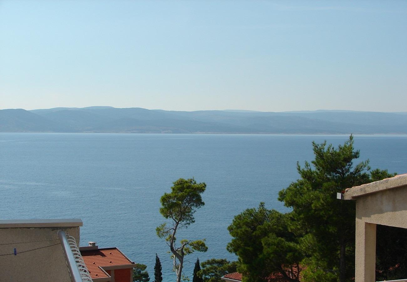 Nada - Brela - Appartementen Kroatië - A2(4+1): uitzicht
