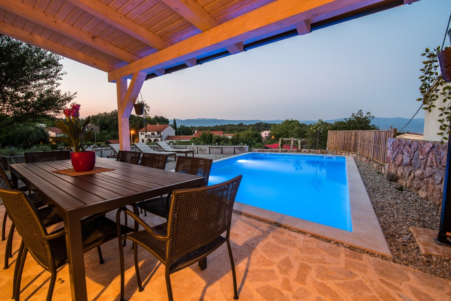 Holiday Homes, Vrbnik, Island of Krk - Holiday houses, villas  Peace - rustic with pool:
