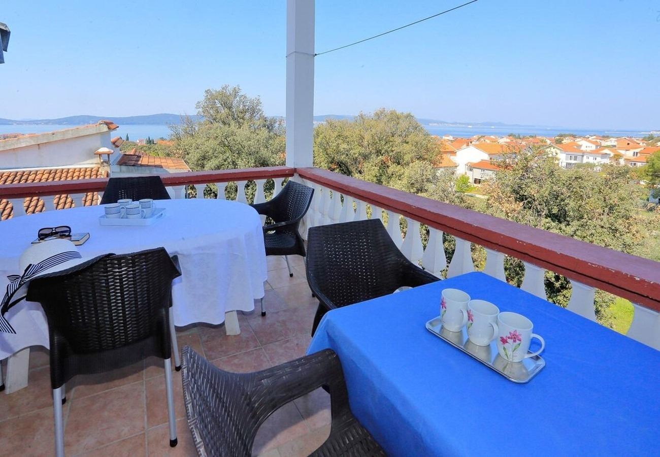 Apartments, Bibinje, Sukošan and surroundings - Apartments  More - 300 m from beach: