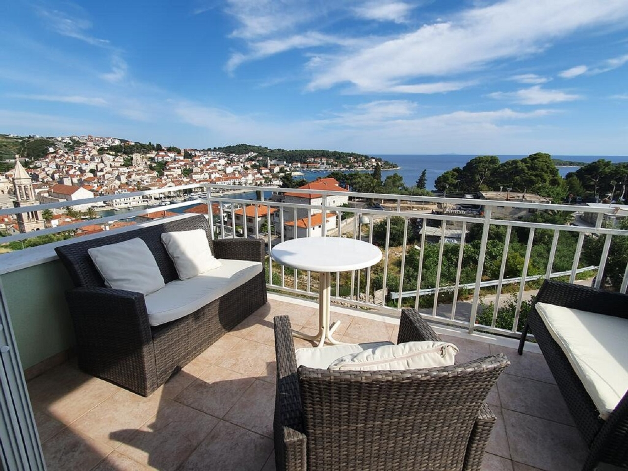 Apartments, Hvar, Island of Hvar - Apartments  Mar - beautiful panoramic view: