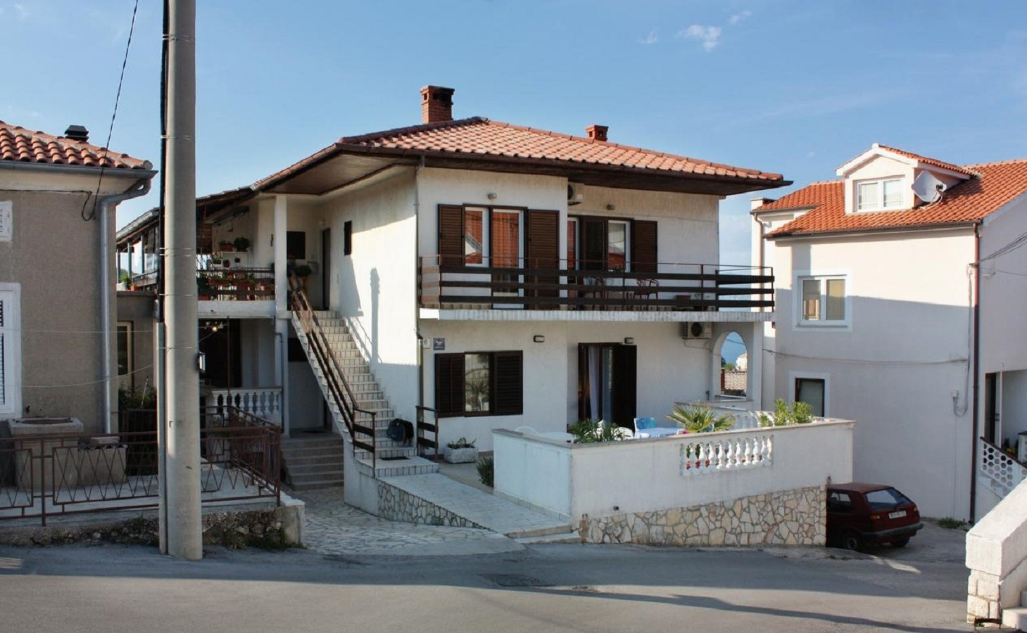 Apartments, Vrbnik, Island of Krk - Apartments  Luka - with parking;