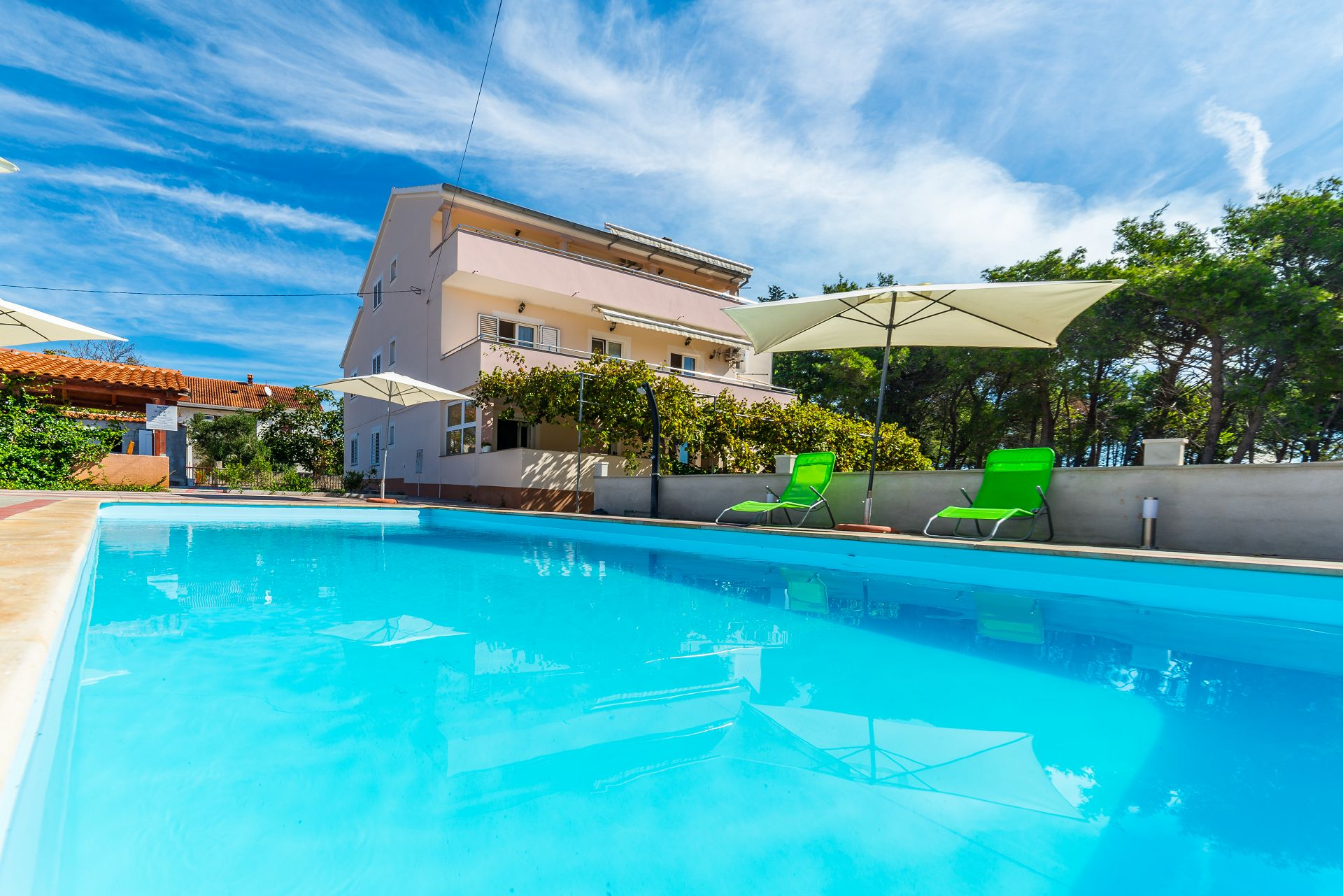 Mla?o - swimming pool: A3(2+2) - Privlaka Ferienwohnung in Kroatien